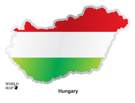hungary: Map Hungary. Illustration