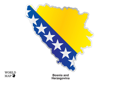 bosnia: Map Bosnia And Herzegovina. Illustration