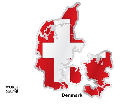 three points: Map Denmark.