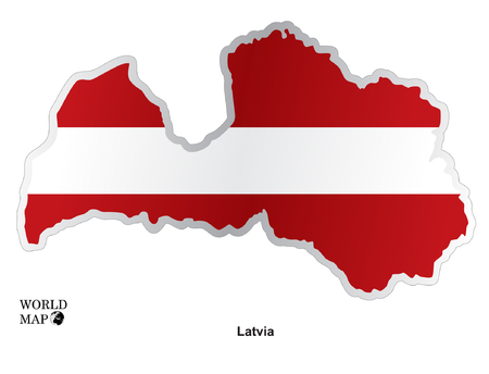 Map Latvia Illustration