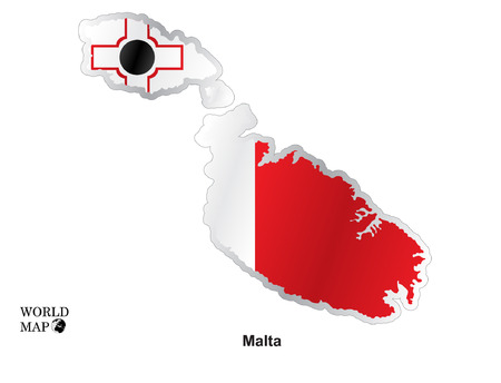 malta map: Map Malta. Illustration