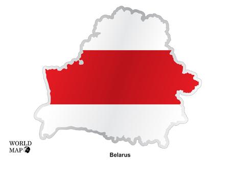 belarus: Map Belarus. Illustration