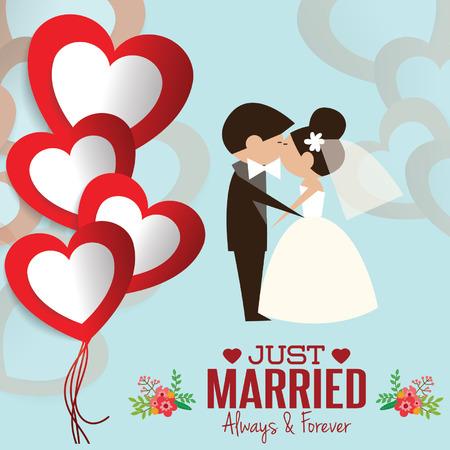 wedding couple: Illustration of lovely sweet couple wedding. Illustration