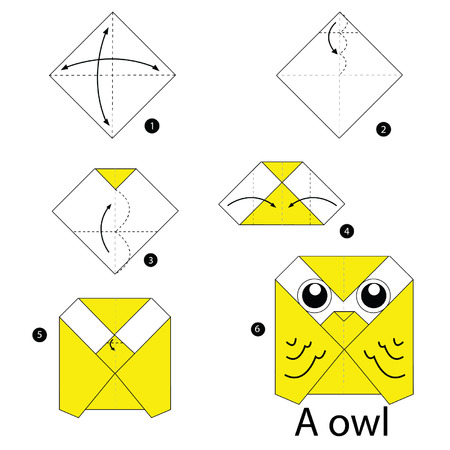origami: step by step instructions how to make origami owl.