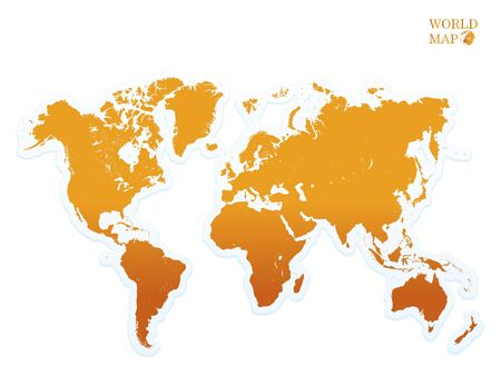 south asia: world map orange.