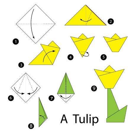 ハート 折り紙 折り紙 チューリップ 作り方 : jp.123rf.com
