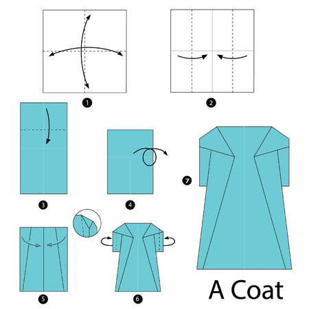 instrucciones: instrucciones paso a paso c�mo hacer origami un abrigo.