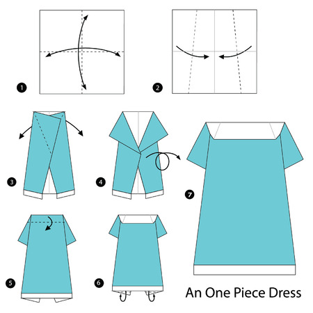 Step By Instructions How To Make Origami A Kids Clothes