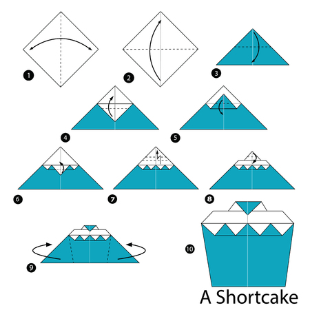 shortcake: Step by step instructions how to make origami A Shortcake.