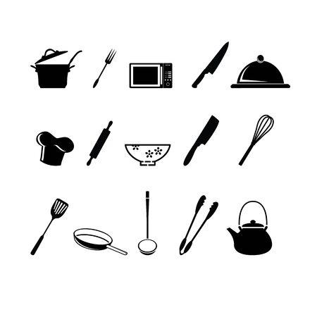drainer: Kitchen utensils icon.