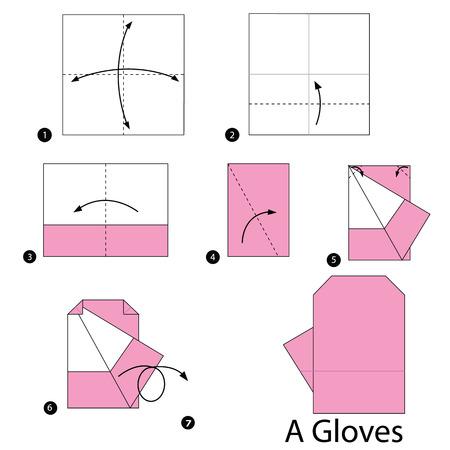 instrucciones: instrucciones paso a paso c�mo hacer origami un Guantes.
