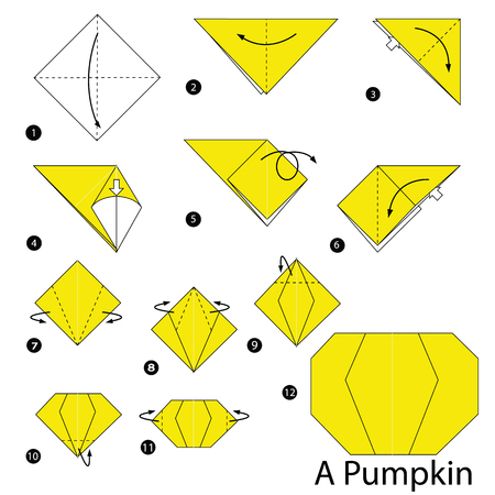Step By Step Instructions How To Make Origami A Pumpkin Royalty