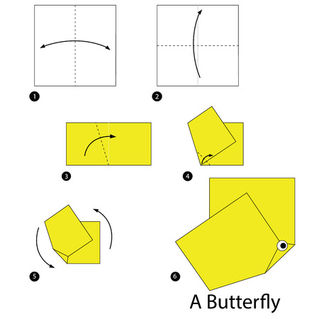 instructions: Step by step instructions how to make origami A Butterfly.