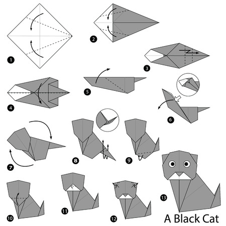 Step By Instructions How To Make Origami Egg Royalty Free
