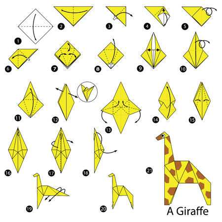 Step By Step Instructions How To Make Origami A Giraffe Royalty