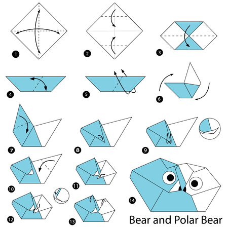 Step By Step Instructions How To Make Origami Bear And Polar
