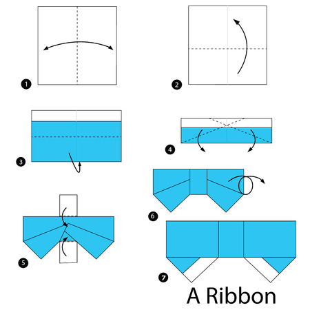 Origami - How to fold a paper Bow/Ribbon ♥︎ Paper Kawaii - YouTube | 450x450