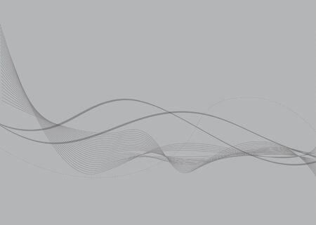 Gray abstract background with waves. Ilustração