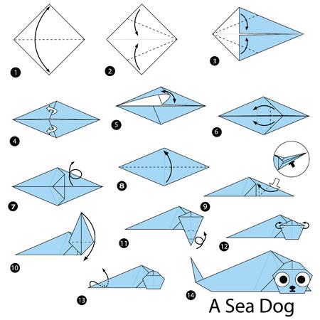 Stap voor stap instructies over hoe u origami een zeedier kunt maken