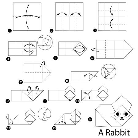 stap voor stap instructies hoe je origami A Rabbit maakt