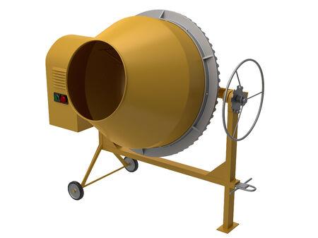 Yellow mixer Standard-Bild