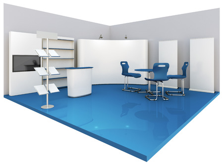 business exhibition: Empty booth space Stock Photo