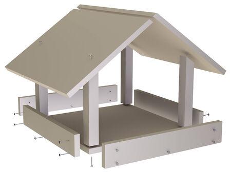Bird feeder - construction Standard-Bild
