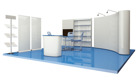 Advertising elements exhibition stand photo
