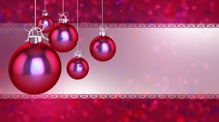 flickering: Simple, classic and modern baubles on a flickering background
