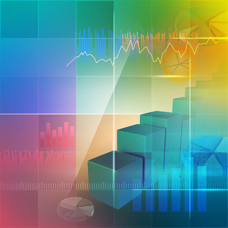 Colorful background for illustrating business