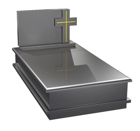 clean cut: Illustration of a typical Polish granite grave