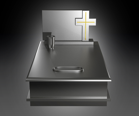 tomb empty: Illustration of a typical Polish granite grave