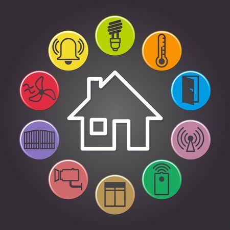 illustration of background symbolizing the smart home