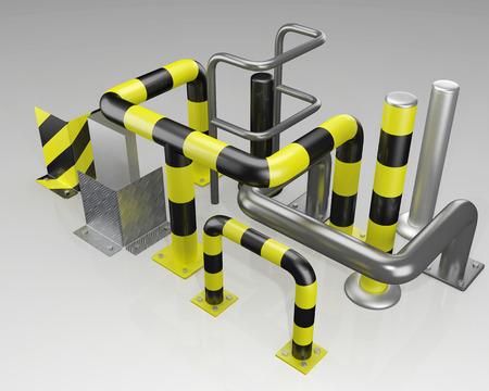 protectors: metal corner protectors and protective bars