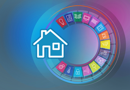 illustrations smart home icon