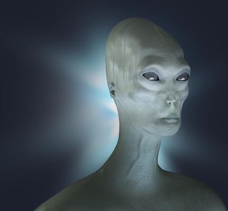 Alien render 3d