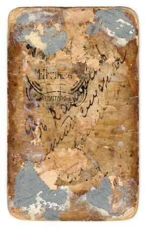Grunge backdrop of old postcard