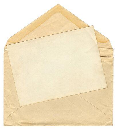 vintage envelope: Vendimia envolvente con marco de fotos en blanco