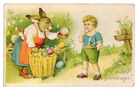 Vintage Easter Greetings Postcard photo