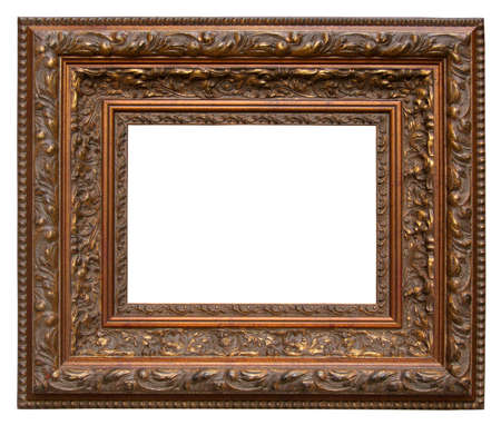 Picture gold frame with a a beautiful carving photo