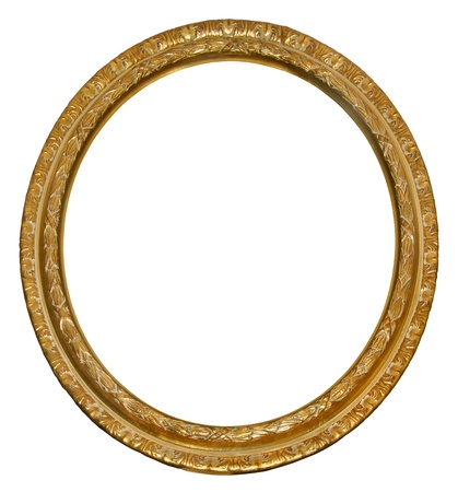 Picture gold oval frame  photo