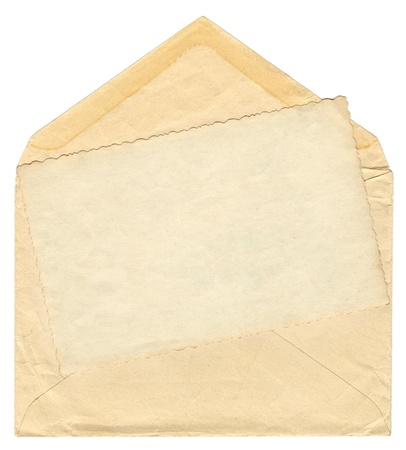 envelope with letter: