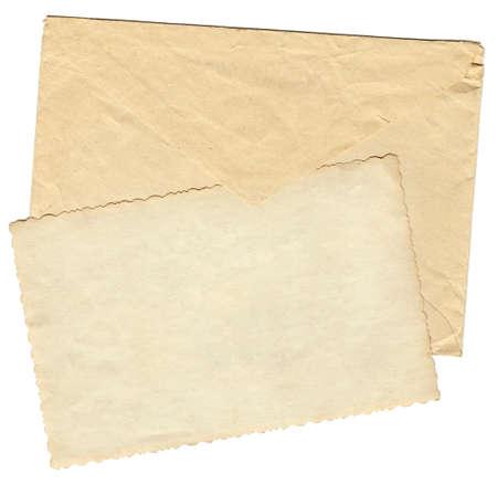 vintage envelope: Vendimia envolvente   Foto de archivo