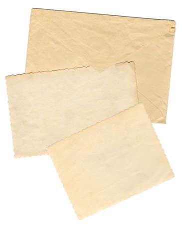 vintage envelope: Vendimia envolvente con marcos en blanco