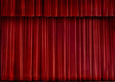 Red velvet concert curtain photo