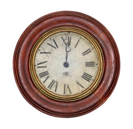 numerals: Old antique clock with roman numerals