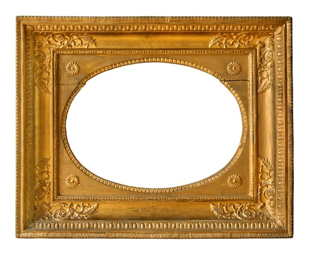 Old golden frame with decorative pattern  photo