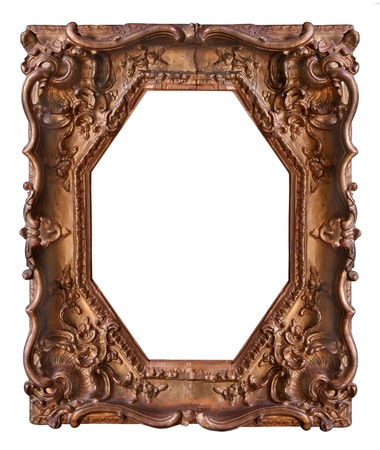 Wooden frame with beautiful carving photo