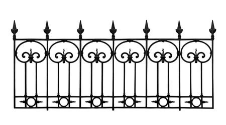 smithery: Forged decorative lattice isolated on white background