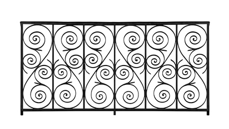 Forged decorative lattice isolated on white background